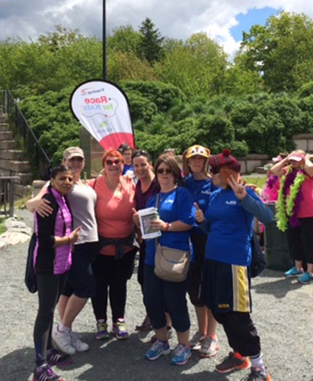 Halifax team at race for kids- AP Reid