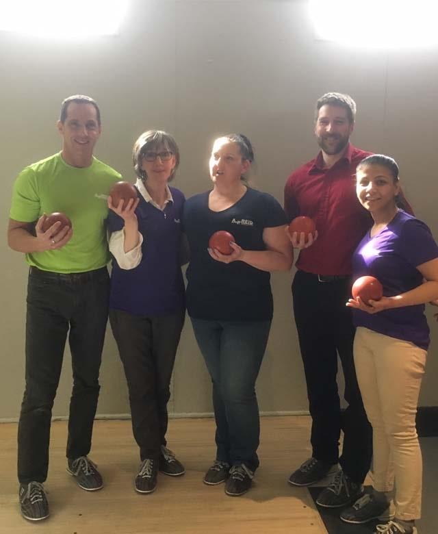team at bowling charity AP Reid