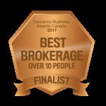 Finalist: Best Brokerage Over 10 People Insurance Business Awards 2017