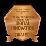 Finalist: The Keal Technology Award for Digital Innovation Insurance Business Awards 2017